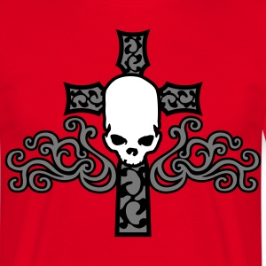 tribal_skull_cross_a_3c Camisetas - Camiseta hombre