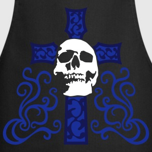 tribal_skull_cross_e_3c_black Delantales - Delantal de cocina