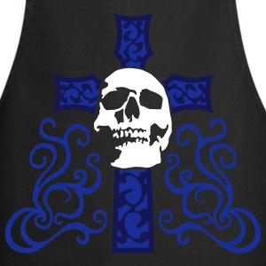 tribal_skull_cross_e_3c_black Tabliers - Tablier de cuisine