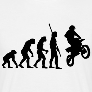 evolution_motorbike_stunt_a_1c T-Shirts - Men's T-Shirt