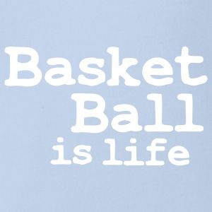 basketball is life Baby body - Baby bio-rompertje met korte mouwen
