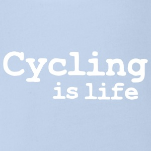 cycling is life Babybody - Økologisk kortermet baby-body