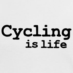 cycling is life T-shirts - Vrouwen contrastshirt