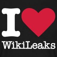 Ontwerp ~ I Love WikiLeaks (witte opdruk)