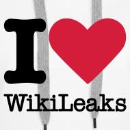 Ontwerp ~ I Love WikiLeaks (zwarte opdruk)