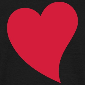 heart valentines day T-shirts - Herre-T-shirt