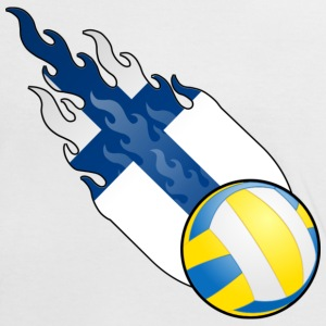 Volleyball Tennis Finland - Kontrast-T-skjorte for kvinner