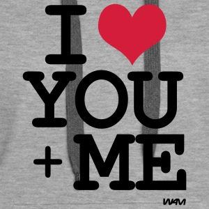 i love you plus me Bluzy - Bluza damska Premium z kapturem