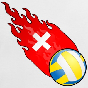 Fireball Volleyball Sveits - Kontrast-T-skjorte for kvinner