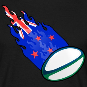 Fireball Rugby New Zealand - T-skjorte for menn