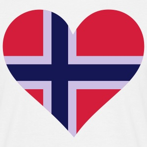Heart Love Norway (3c) T-Shirts - Men's T-Shirt
