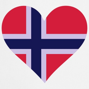 Heart Love Norway (3c) Delantales - Delantal de cocina
