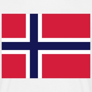 Flag Norway 2 (3c) T-shirts - Mannen T-shirt