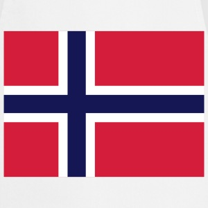 Flag Norway 2 (3c) Delantales - Delantal de cocina
