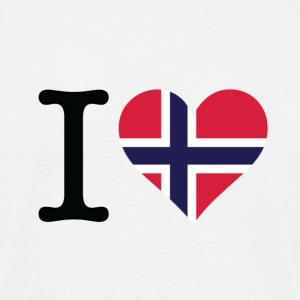 I Love Norway 2 (DD) T-skjorter - T-skjorte for menn