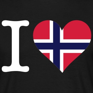 I Love Norway 1 (3c) T-shirts - Mannen T-shirt
