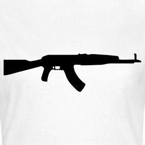gun rifle weapon military m16 T-shirt - Maglietta da donna