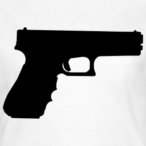 gun rifle pistol weapon military m16 Camisetas - Camiseta mujer