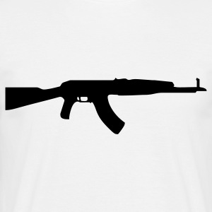 gun rifle weapon military m16 T-shirts - Herre-T-shirt