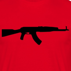 gun rifle weapon military m16 T-shirts - T-shirt Homme