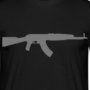 gun rifle weapon military m16 T-shirt - Maglietta da uomo