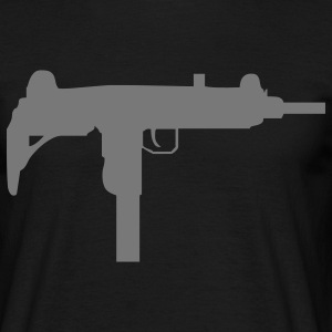 gun rifle weapon military m16 Camisetas - Camiseta hombre