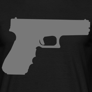 gun rifle pistol weapon military m16 T-shirts - Mannen T-shirt