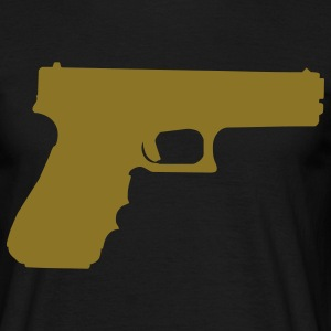 gun rifle pistol weapon military m16 T-shirts - T-shirt Homme