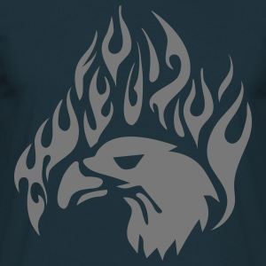 tribal eagle flames T-shirts - T-shirt Homme