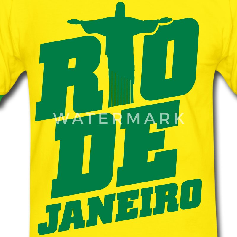 Yellow/green rio dejaneiro T-Shirts - Men's Ringer Shirt
