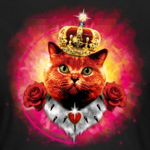 Red Roses Cat the Queen  in Glow - rote Katze mit  - Frauen T-Shirt