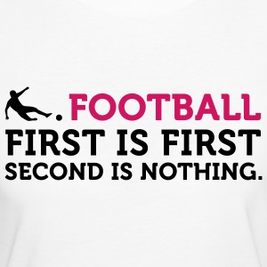 Football - Second is Nothing (2c) T-shirt - T-shirt ecologica da donna