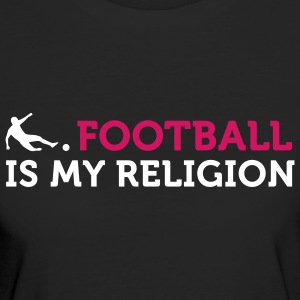 Football - My Religion (2c) T-shirt - T-shirt ecologica da donna