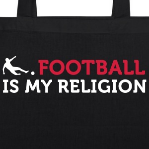Football - My Religion (2c) Bags  - EarthPositive Tote Bag