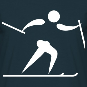 cross country skiing os T-shirt - Maglietta da uomo