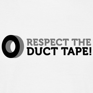 Respect the Duct Tape (2c) T-Shirts - Männer T-Shirt