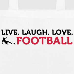 Live Laugh Love Football (2c) Vesker - Bio-stoffveske