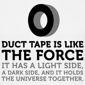 Duct Tape is the Force (2c) T-shirts - Herre-T-shirt