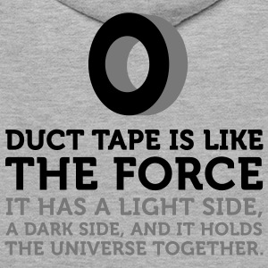 Duct Tape is the Force (2c) Gensere - Premium hettegenser for menn