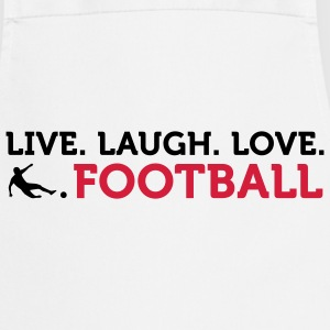 Live Laugh Love Football (2c) Tabliers - Tablier de cuisine