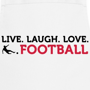 Live Laugh Love Football (2c) Fartuchy - Fartuch kuchenny