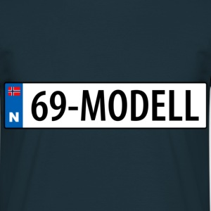 69-modell - T-skjorte for menn