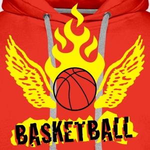 basketball_b_2c Sweat-shirts - Sweat-shirt à capuche Premium pour hommes