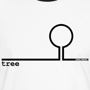 Black Tree from Oneliners T-shirts - Mannen contrastshirt
