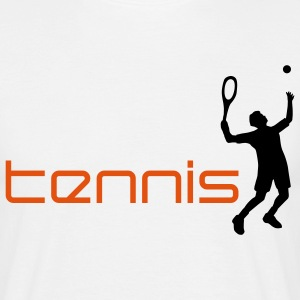 tennis_h_2c T-shirts - Herre-T-shirt