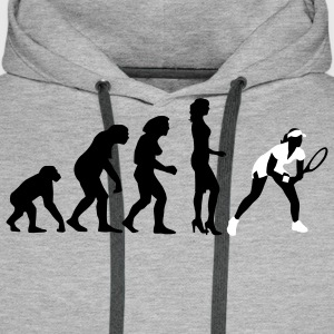 evolution_female_tennis_2c Sweat-shirts - Sweat-shirt à capuche Premium pour hommes