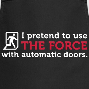 Open Automatic Doors with the Force (2c)  Aprons - Cooking Apron