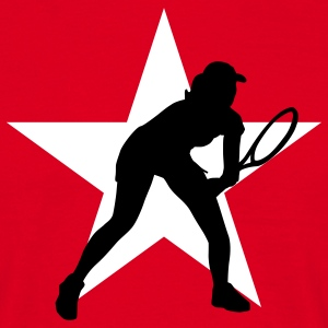 tennis_female_g_2c_star T-shirts - Mannen T-shirt
