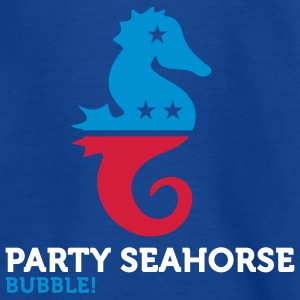 Party Seahorse (3c) Kinder T-Shirts - Teenager T-Shirt