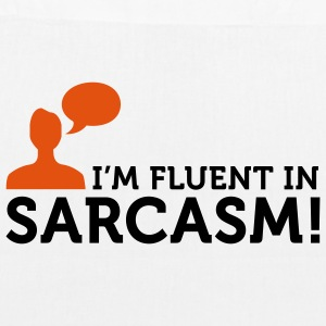 I'm fluent in Sarcasm (2c) Bags  - EarthPositive Tote Bag